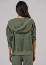 Reverse Zip Hoodie - Agave - ami boutique