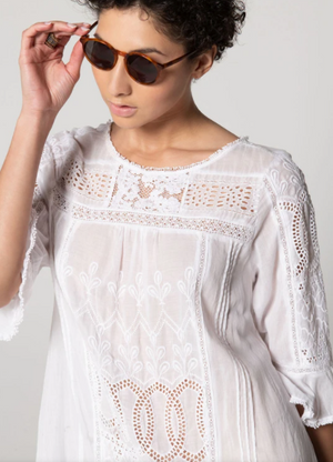 Sophia Eyelet Dress - ami boutique