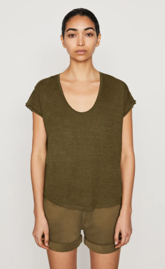 Easy Scoop Tee - Moss