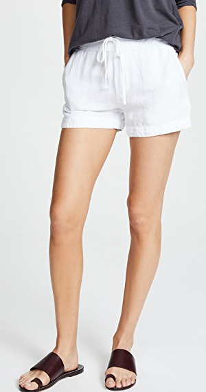 Pull On Shorts - White