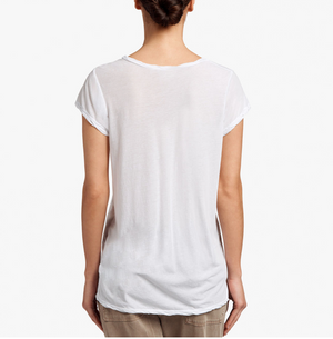 Deep V Tee - Silver - ami boutique