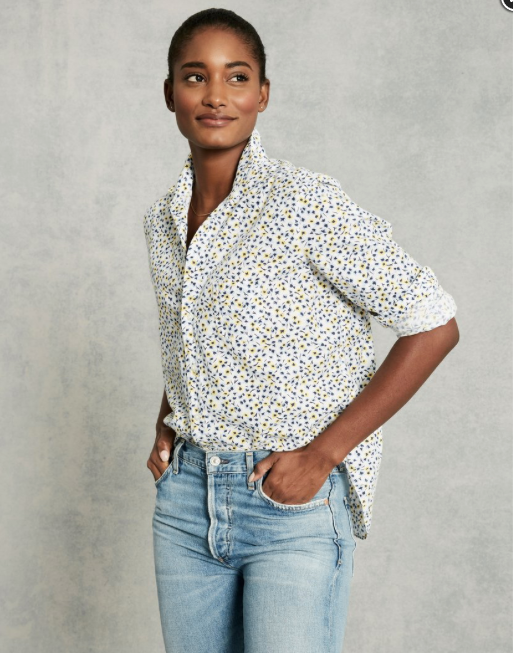 Navy Flowers Blouse