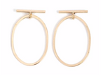 Bar & Round Drop Earrings