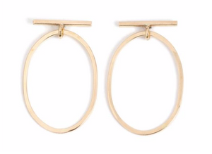 Bar & Round Drop Earrings - ami boutique