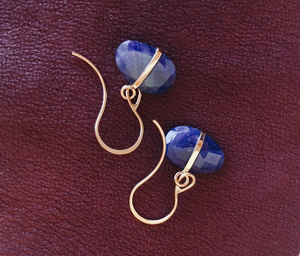 Blue Sapphire Earring - ami boutique