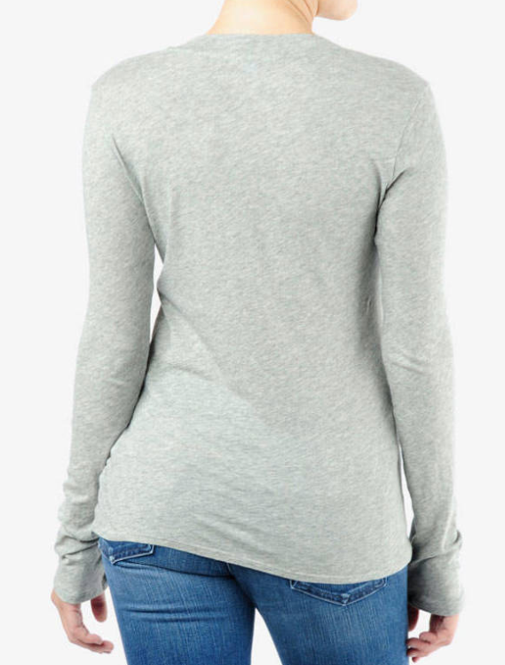 Long Sleeve VNeck - HGry - ami boutique