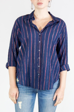 Beau Shirt - Navy Stripe