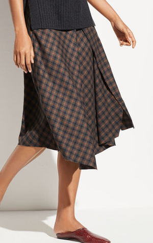 Check Drape Skirt