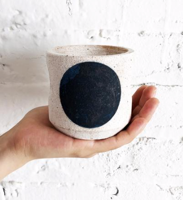 Tealight - Indigo Crescent - ami boutique