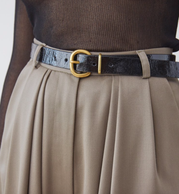 Thin Estate Belt - Black - a m i