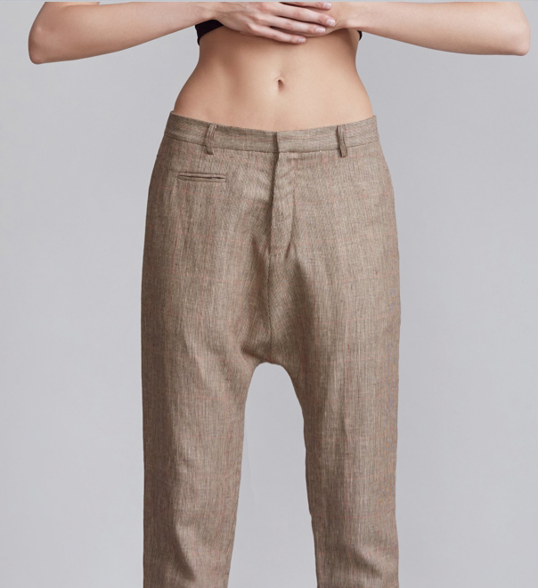 Drop Trouser - Check - ami boutique