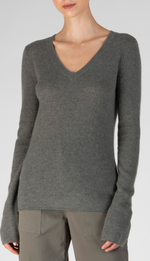 Cashmere V Neck - Safari
