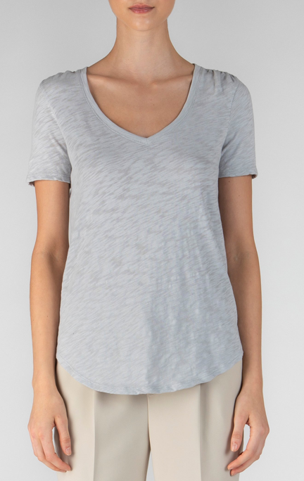 SS V Neck - Fog - ami boutique