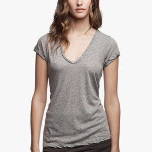 Deep V Tee - Heather Grey - ami boutique