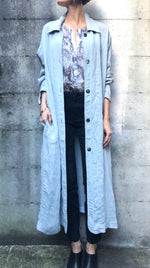 Dusty Blue Relaxed Trench