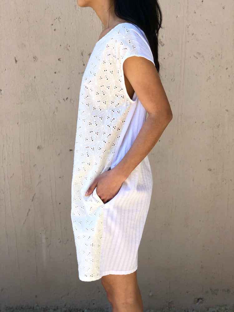 Eyelet T Shirt Dress - ami boutique