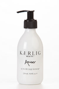 Glass Bottle of Amber Luxury Liquid Soap