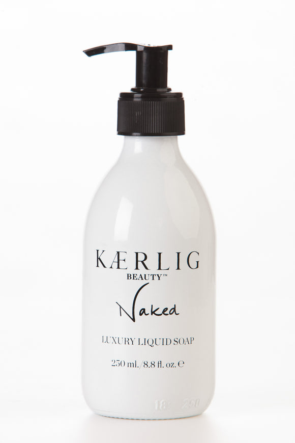 Glass Bottle of Naked Luxury Liquid Soap