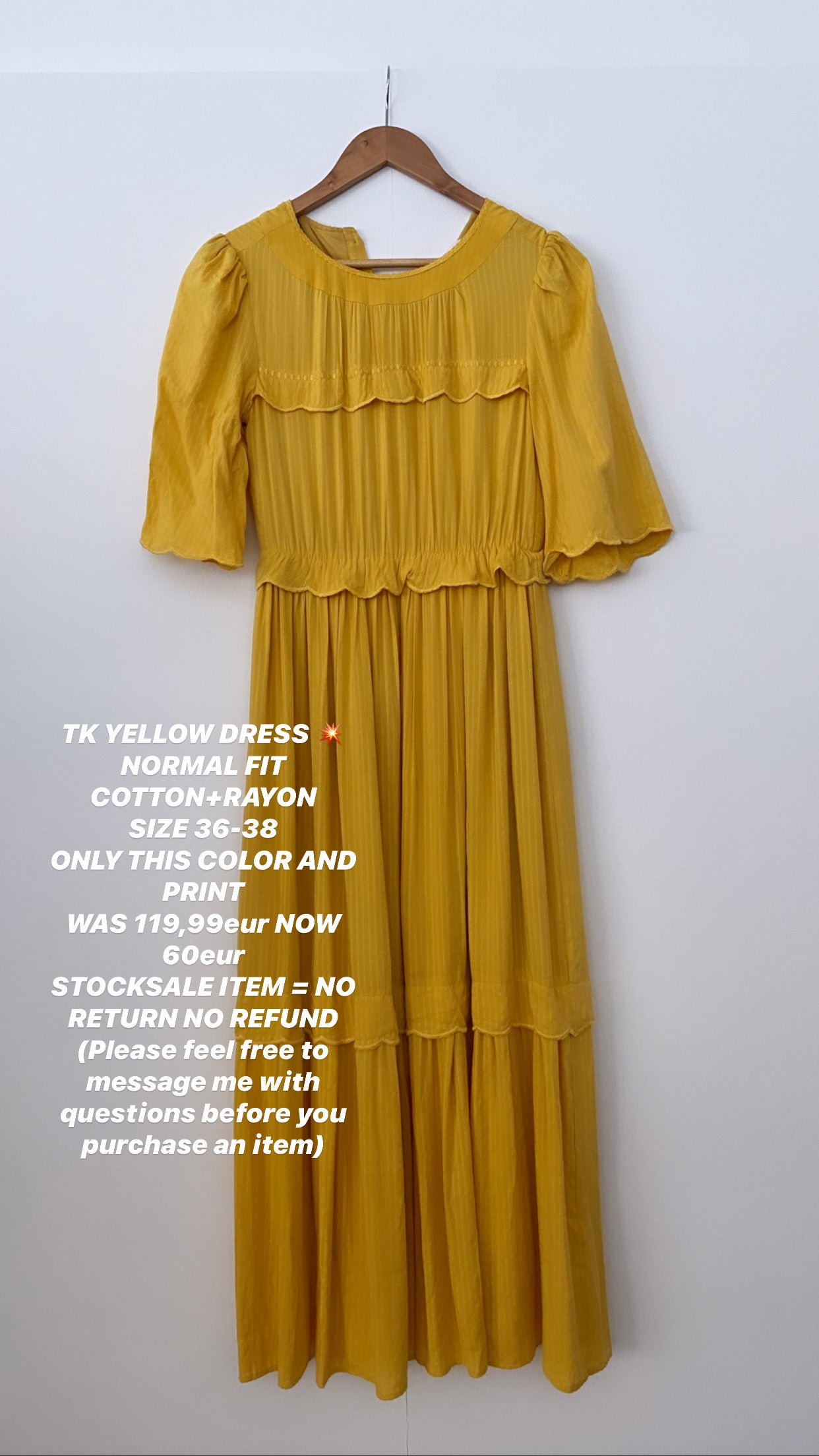 TK YELLOW DRESS