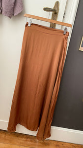 LIV SILK SKIRT ROUILLE