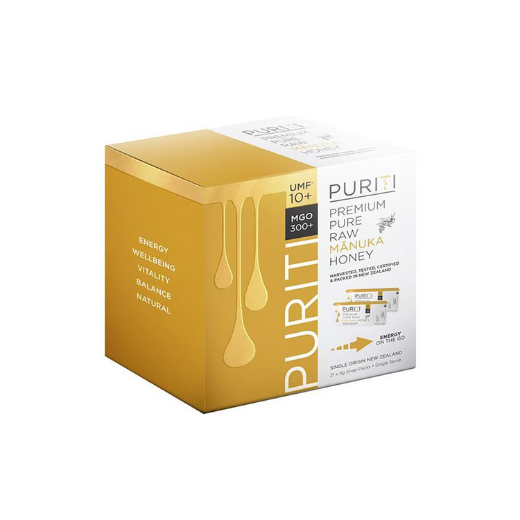 PURITI UMF 10+ Premium Pure Raw Manuka Honey 5g Packs
