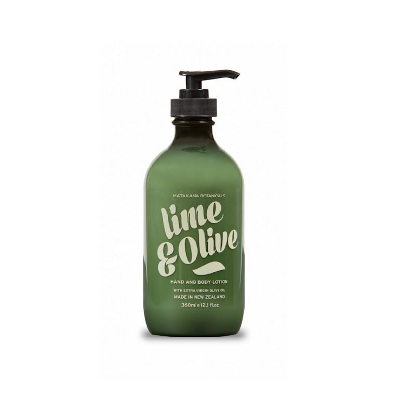Matakana Botanicals Lime & Olive Hand & Body Lotion Pump