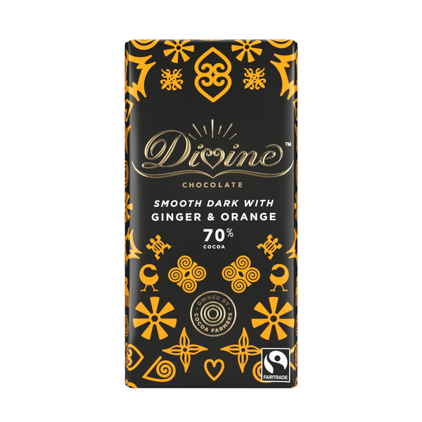 Divine Smooth 70% Dark Chocolate With Ginger & Orange