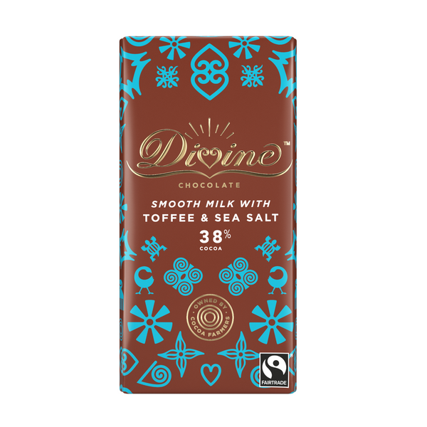 Divine Smooth 38% Milk Chocolate with Toffee & Sea Salt