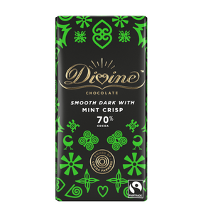 Divine dark chocolate with mint crisp