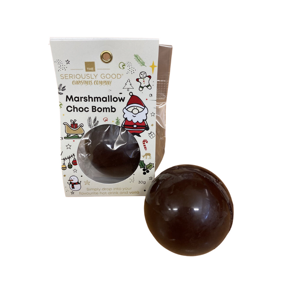 Seriously Good Christmas Marshmallow Chocolate Bomb