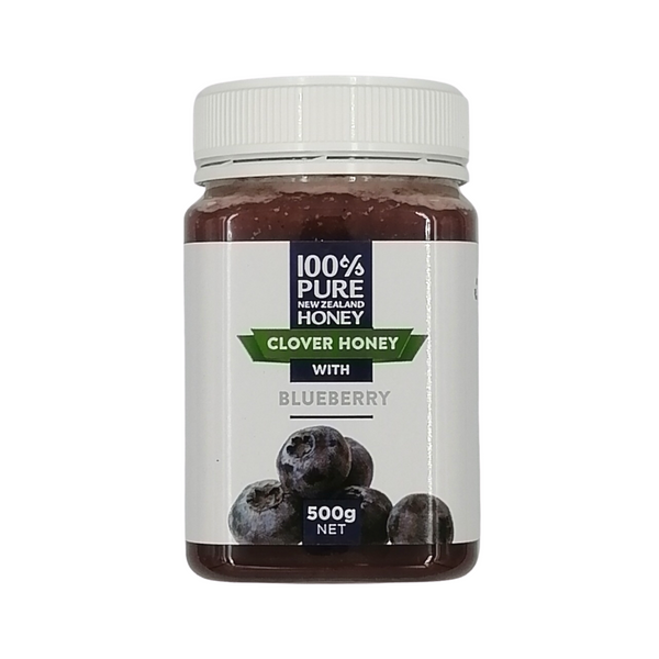 100% Pure New Zealand Clover Honey with Blueberry