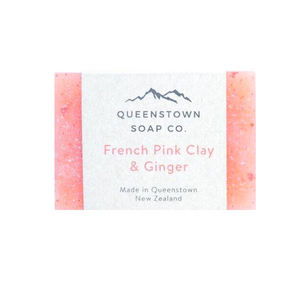 queenstown soap co french pink clay and ginger