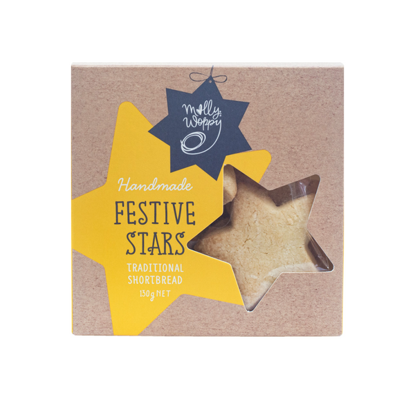 Molly Woppy Festive Stars Traditional Buttery Shortbread