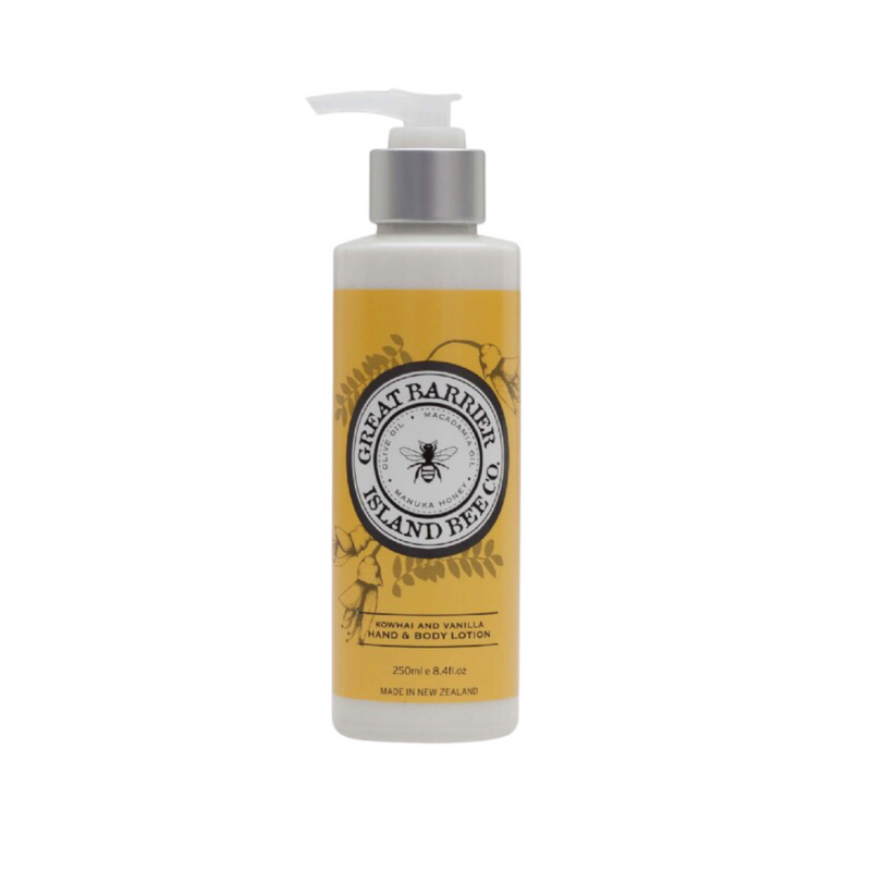 Great Barrier Island Bee Co. Kowhai & Vanilla Hand & Body Lotion