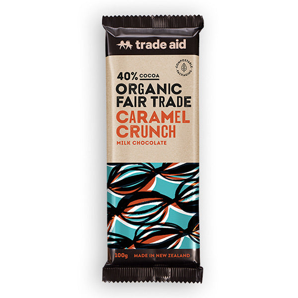 Fair Trade Organic 40% Cocoa Caramel Crunch Milk Chocolate
