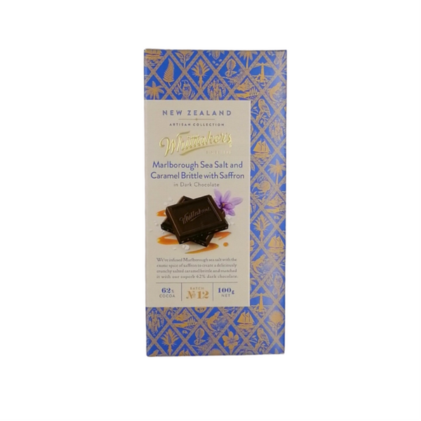 Whittaker's NZ Artisan Collection - Marlborough Sea Salt and Caramel Brittle with Saffron