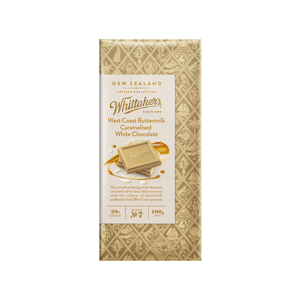 Whittaker's West Coast Buttermilk Caramelised White Chocolate