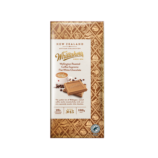Whittaker's  Wellington Roasted Coffee Supreme Flat White Chocolate