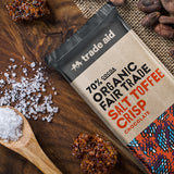 Fair Trade Organic 70% Cocoa Salt Toffee Crisp Chocolate
