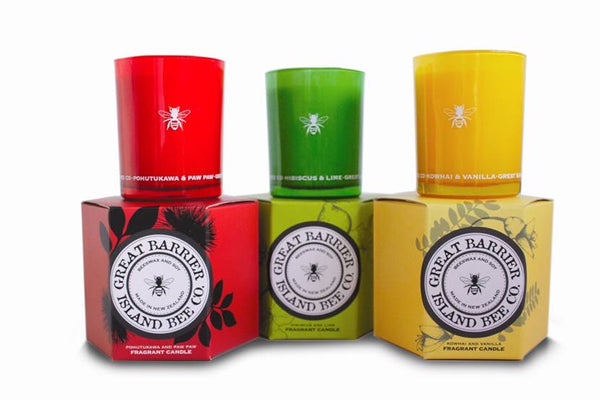 Great Barrier Island Bee Co. Pohutukawa & Pawpaw Candle