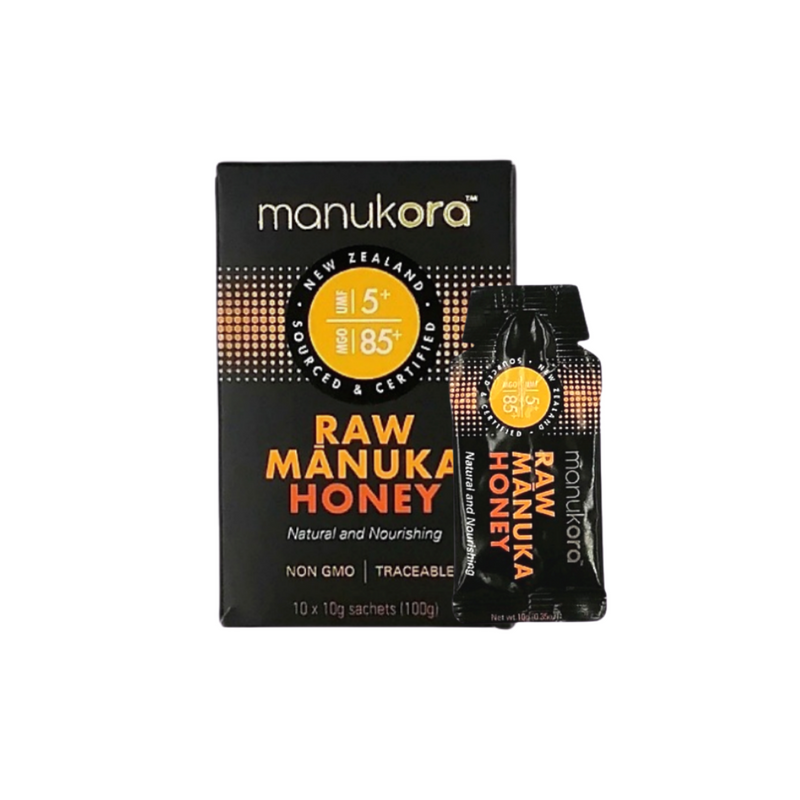 Manukora UMF 5+ Raw Manuka Honey On-The-Go MGO 85+