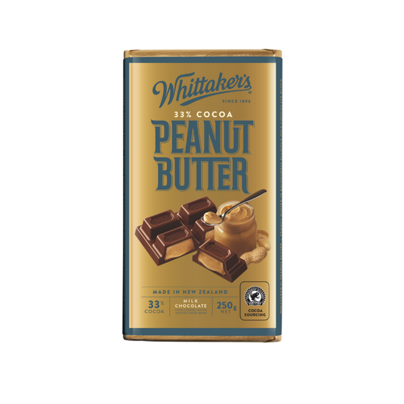 Whittaker's 33% Cocoa Peanut Butter Milk Chocolate