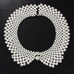 SharpStyle BLAKE Handmade Pearl Collar Necklace