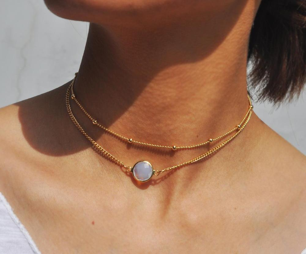 SharpStyle Two Layer Choker Necklace