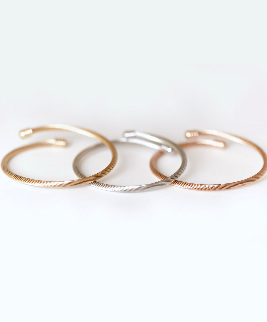 Agoura Bangle Set - Stainless Steel