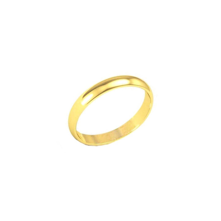 Gold Band Ring - 3 mm - Shemoni Jewelry