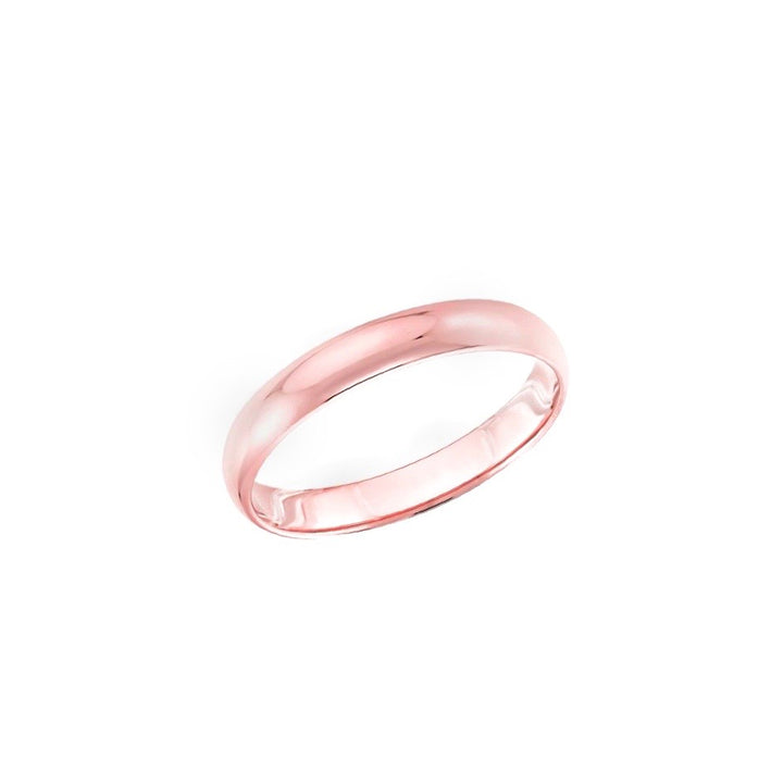 Rose Gold Band Ring - 3 mm - Shemoni Jewelry