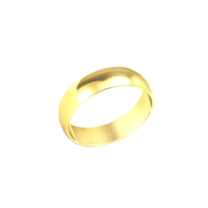 Gold Band Ring - 5 mm - Shemoni Jewelry