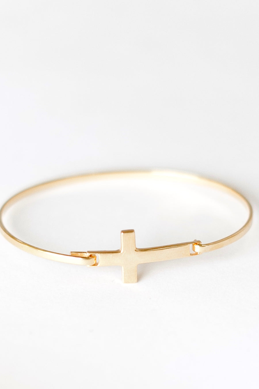 Cross Bangle - Sterling Silver