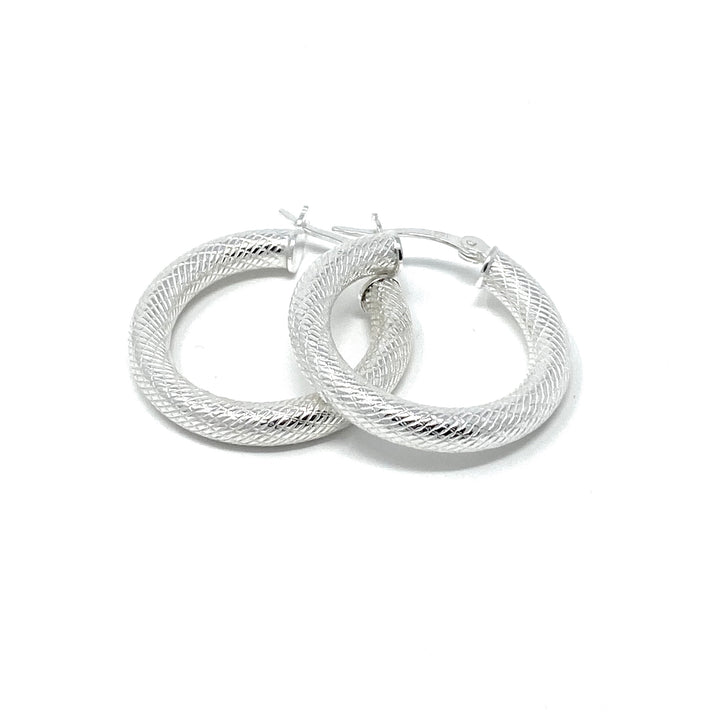 Diamond Cut Hoops - Shémoni Jewelry
